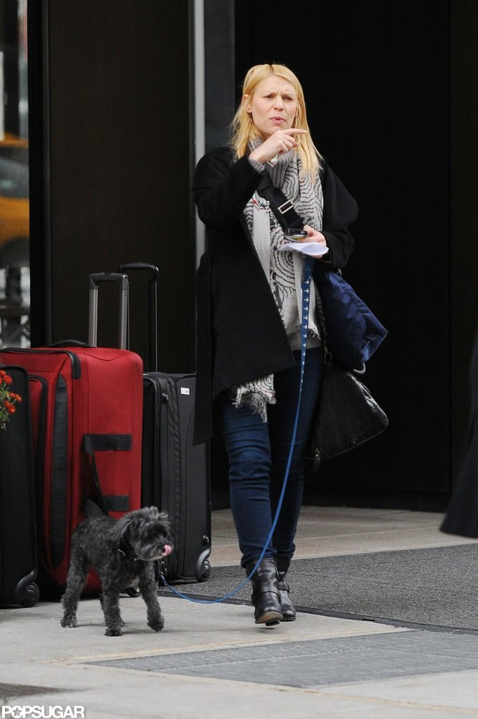 Claire Danes spent some time out in NYC.