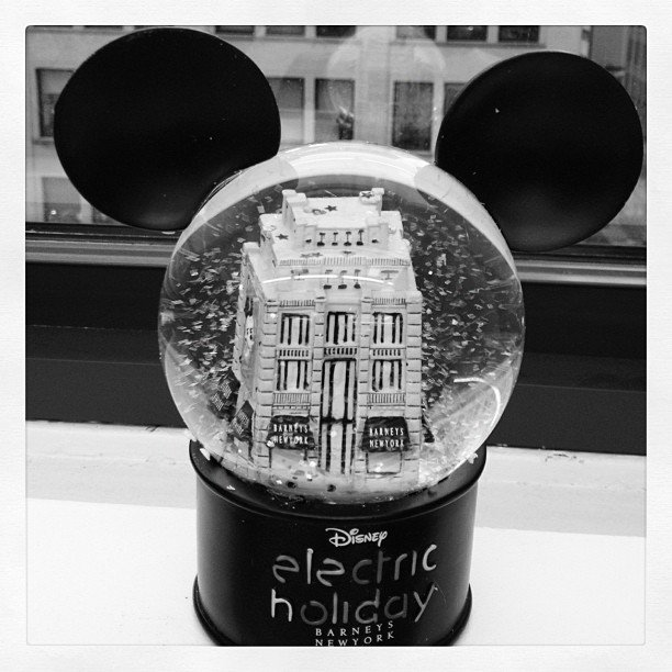 What better way to welcome in the holiday season than with a snow globe with everybody's favorite mouse ears?