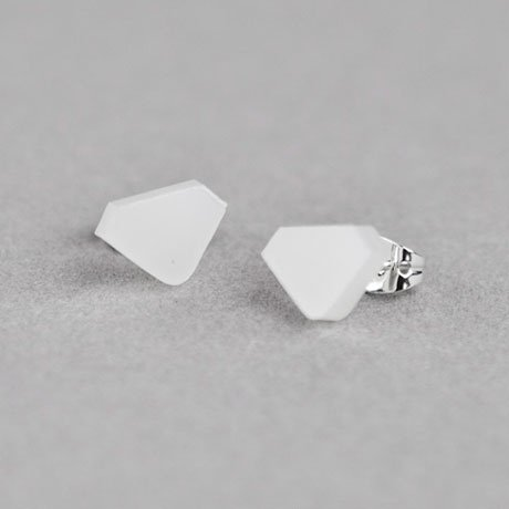 These diamond-shaped acrylic studs ($20) are more laid-back than the real deal. — Annie Scudder, editor