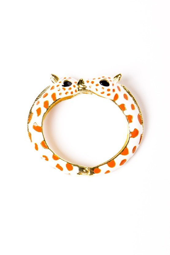 I love that this fun giraffe bangle ($60) has a touch of the wild side. — Annie Scudder, editor