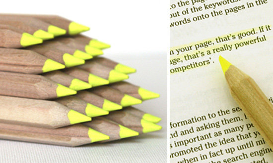 These pencil highlighters ($2) would help me stand out at the office. — Annie Scudder, editor