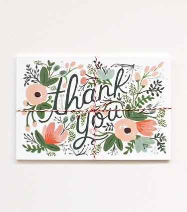 These Rifle Paper Co. wildflower postcards ($10) are a simple and gorgeous spin on thank-you cards. — Annie Scudder, editor