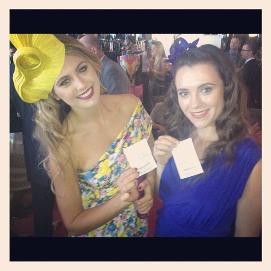 Jesinta Campbell celebrated her first betting win for the week at Crown Oaks Day. Source: Instagram user jesinta_campbell
