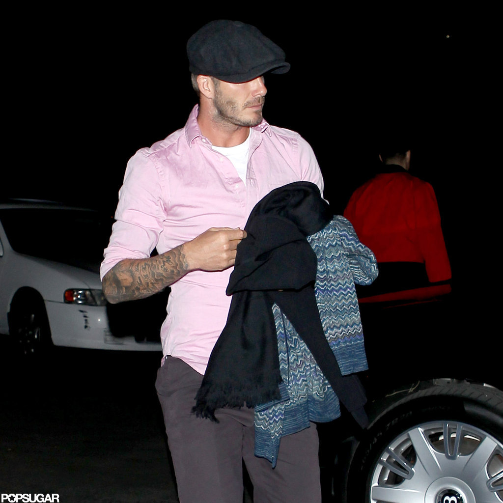 David Beckham left the Hollywood Bowl.