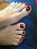Heidi Klum showed off a fresh pedicure. Source: Twitter user heidiklum