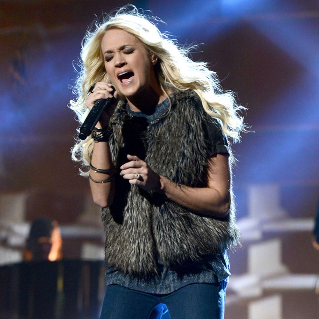 Carrie Underwood Rehearsing For The American Music Awards