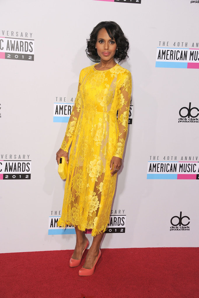 Kerry Washington stepped out for the American Music Awards.