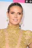 Heidi Klum wore her hair up.