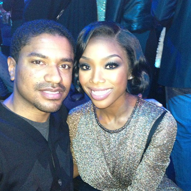 Brandy cozied up to a friend inside the Nokia Theatre. Source: Instagram user 4everbrandy