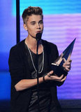 Just Beiber accepted his award.