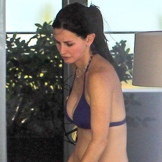Courteney Cox in a Bikini Vacationing in Miami | Pictures