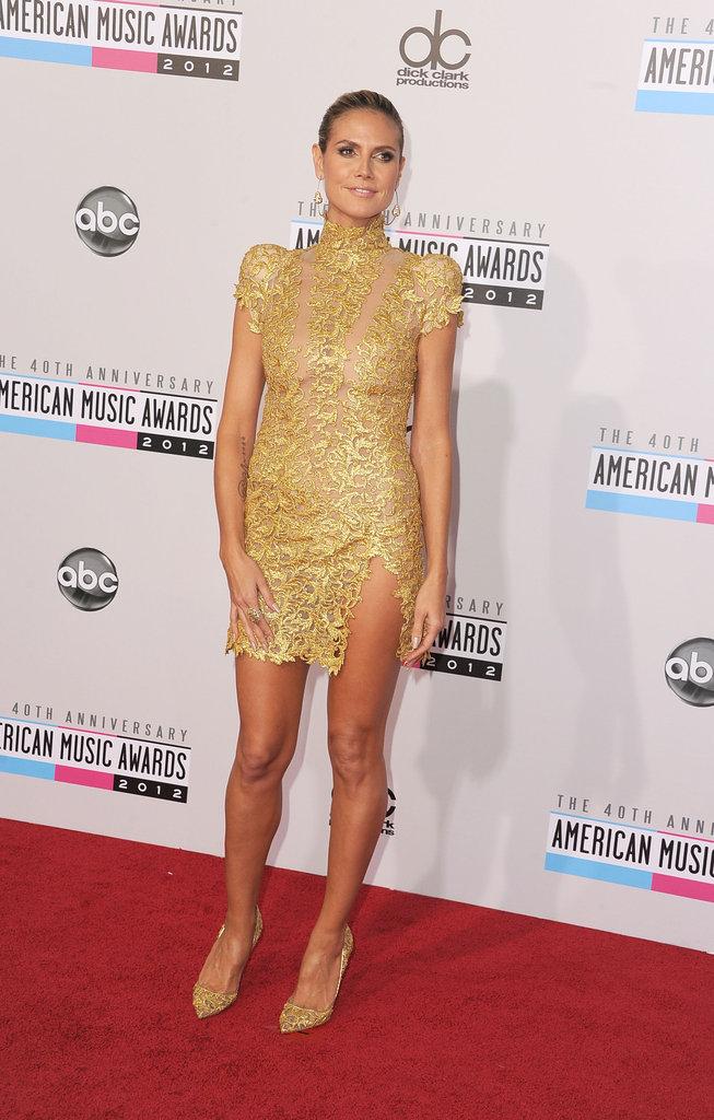 Heidi Klum wore Alexandre Vauthier.