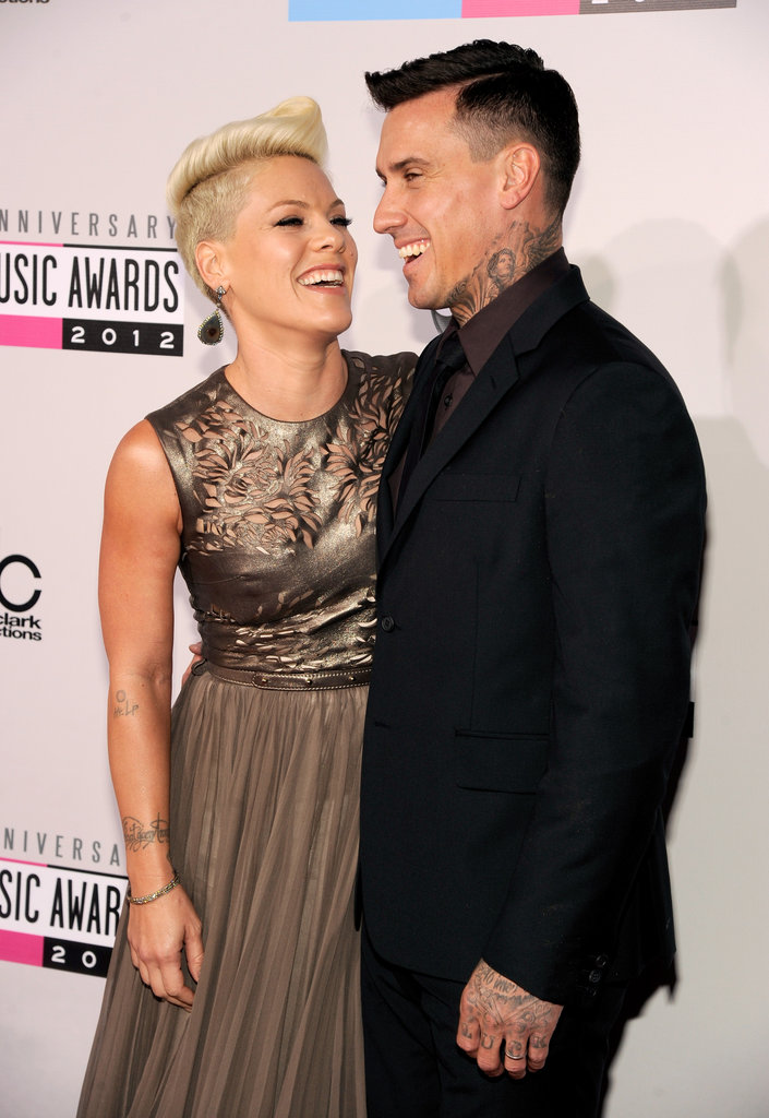 Pink and Carey Hart were hand in hand at the American Music Awards.