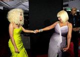 Nicki Minaj and Christina Aguilera caught up.