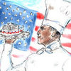 Karl Lagerfeld&#039;s Drawing of President Obama as a Chef