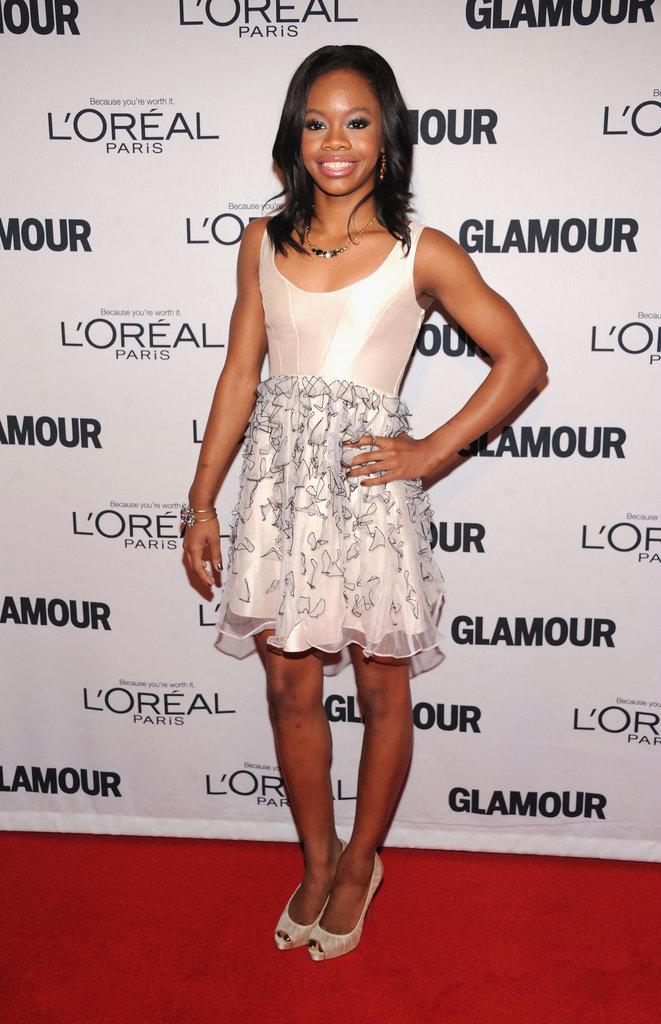Gabby Douglas stepped out in NYC for the Glamour Women of the Year Awards.