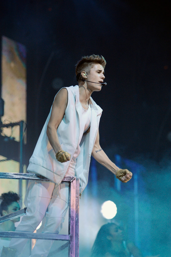 Justin Bieber performed in Boston.