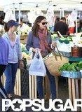 Jennifer Garner shopped at a farmers market in LA.