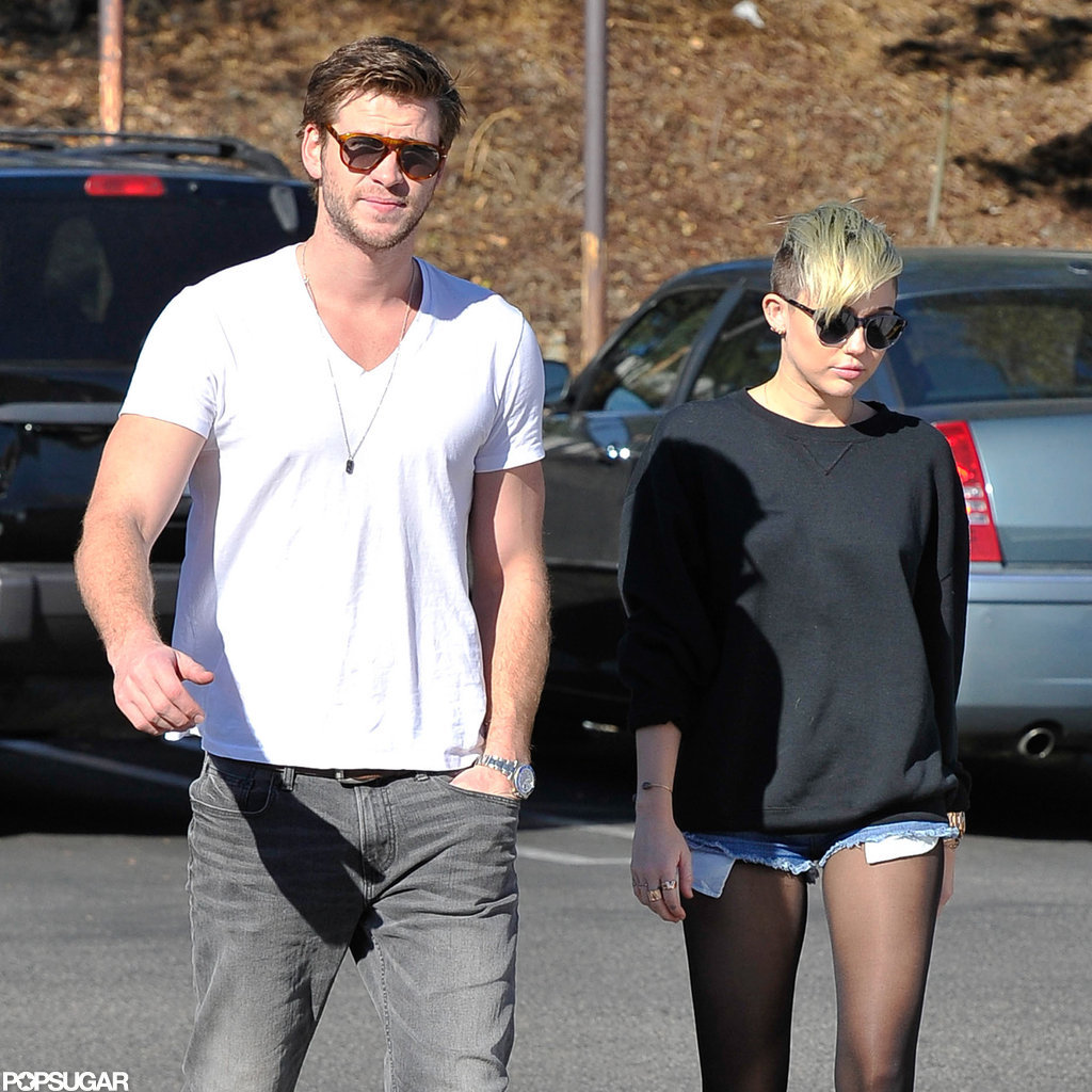 Miley Cyrus and Liam Hemsworth went out in LA.