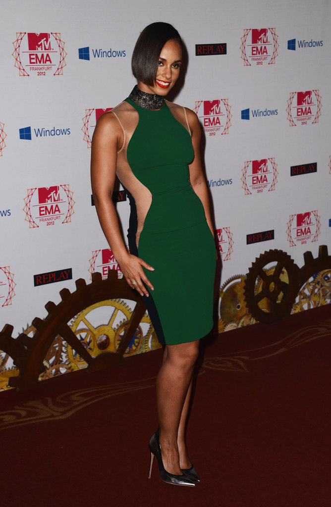 Alicia Keys in Stella McCartney dress, Gianvito Rossi heels and Repossi jewellery.