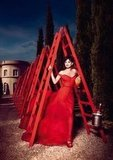 Penélope Cruz walked under ladders for Campari's 2013 calendar.