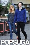 Sienna Miller and Tom Sturridge walked in NYC.