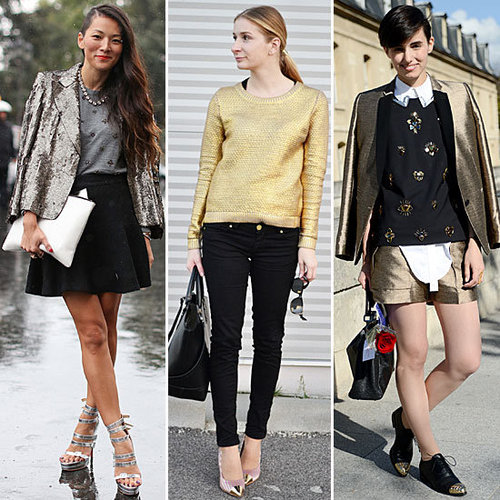 How to Wear Metallics During the Day