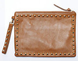 Rock Clutch in Tan, $250