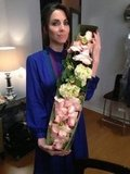 Whitney Cummings got a fistful of flowers from Jay Leno. Source: Twitter user whitneycummings