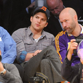 David Beckham and Ashton Kutcher at Lakers Game | Pictures