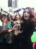 Ashley Greene posed with a fan's puppy that was named after her Twilight character, Alice. Source: Twitter user AshleyMGreene