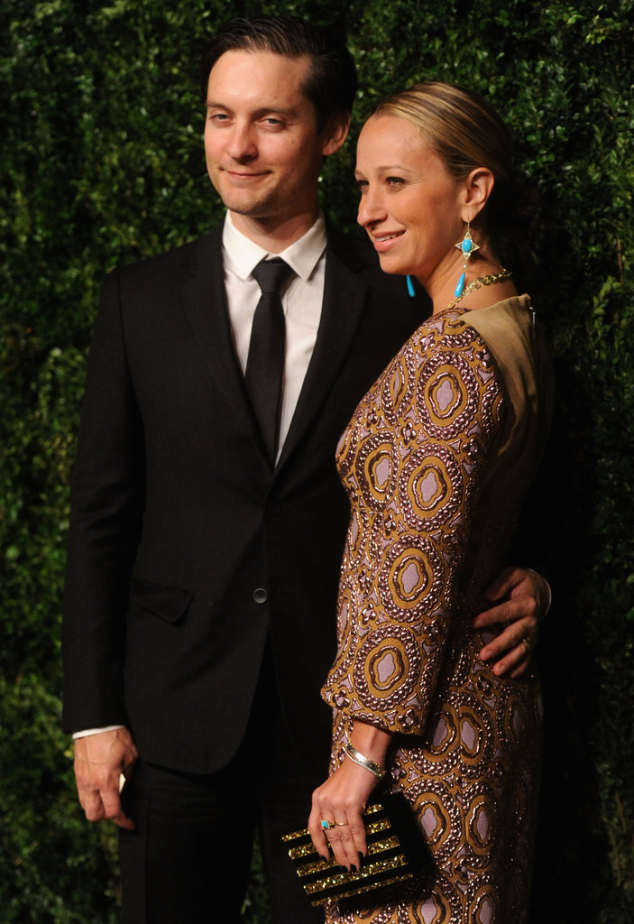 Tobey Maguire stepped out in NYC for the CFDA/Vogue Fashion Fund Awards.