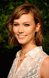 Karlie Kloss smiled for photos at the CFDA/Vogue Fashion Fund Awards in NYC.