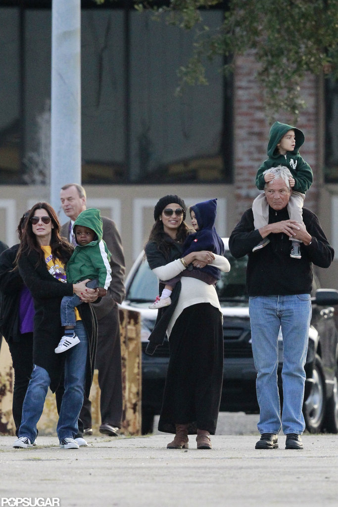 Sandra Bullock and her son, Louis Bullock, hung out with Camila Alves, Levi McConaughey, and Vida McConaghey in New Orleans.