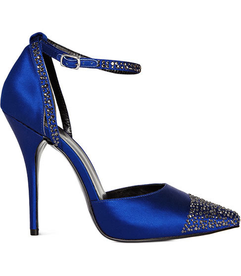 How elegant are these Reiss Tatjana Crystal-Embellished Shoes ($340)? A shot of cobalt and a classic silhouette make this a standout pair.