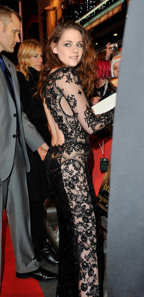 Adding to the lacy peekaboo drama, she also sported a jawdropping back cutout.