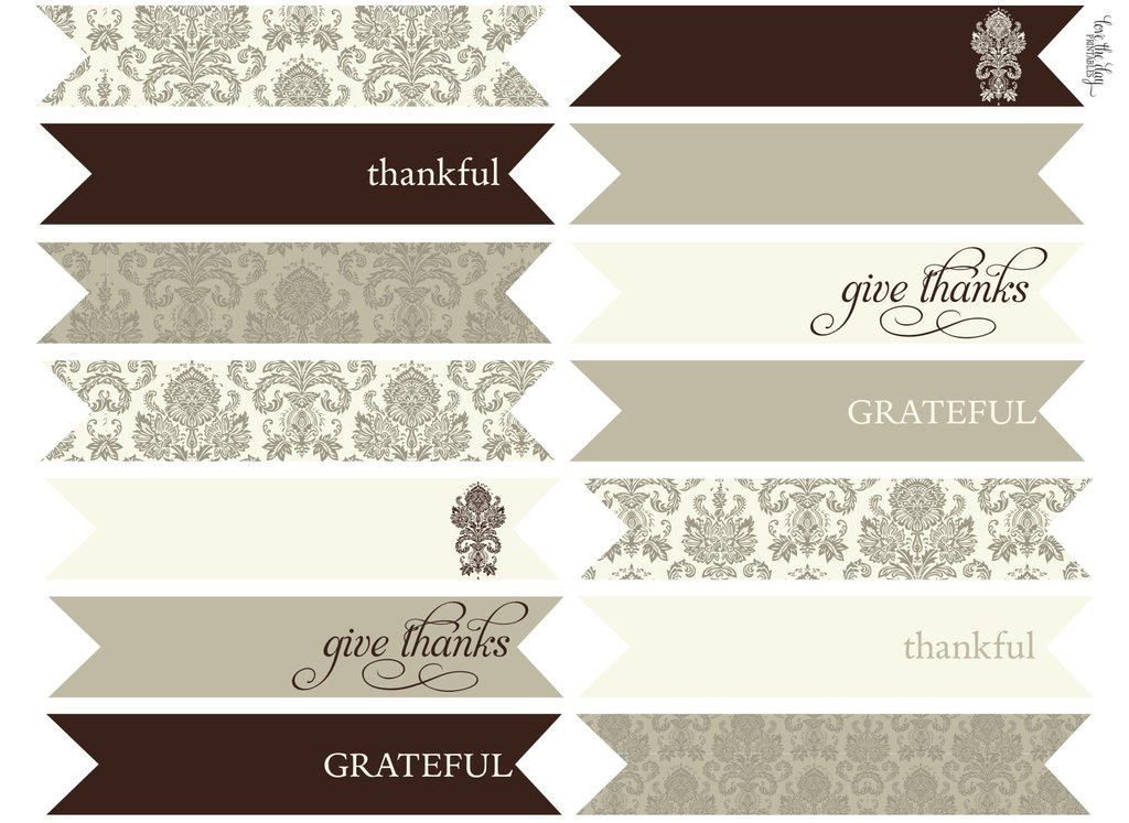 Thanksgiving Table Printables