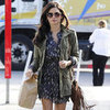 Jenna Dewan Wearing Green Anorak