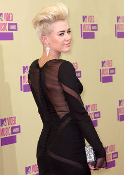 55. Miley's Dramatic New Hair