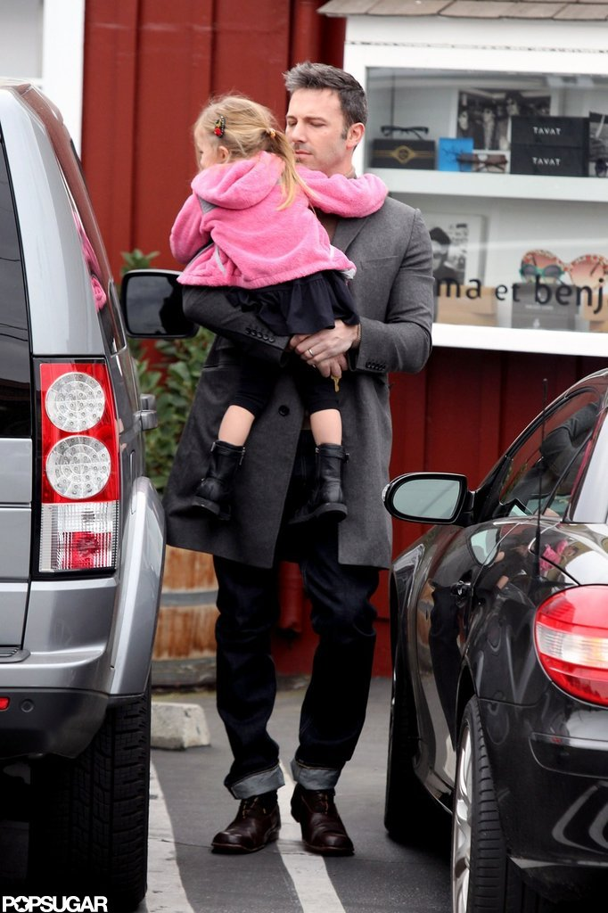 Seraphina Affleck had fun with Ben Affleck.