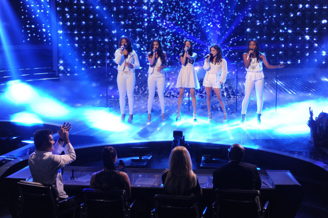 "Fifth Harmony performed Mariah Carey's ""Hero."""