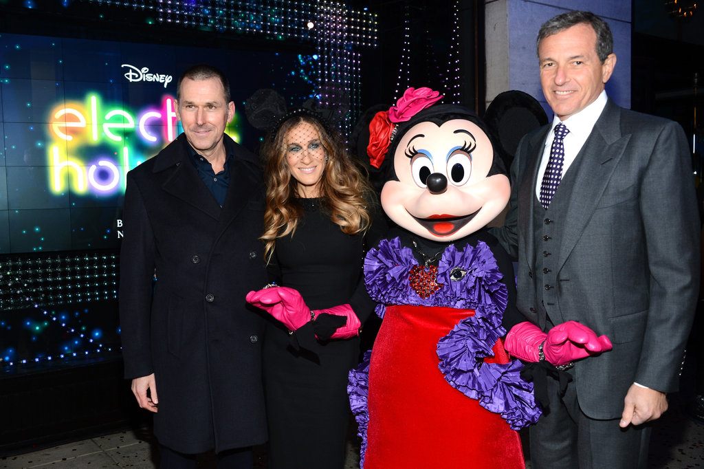 Sarah Jessica Parker was on hand at Barneys in NYC to unveil Disney's Electric Holiday collection.