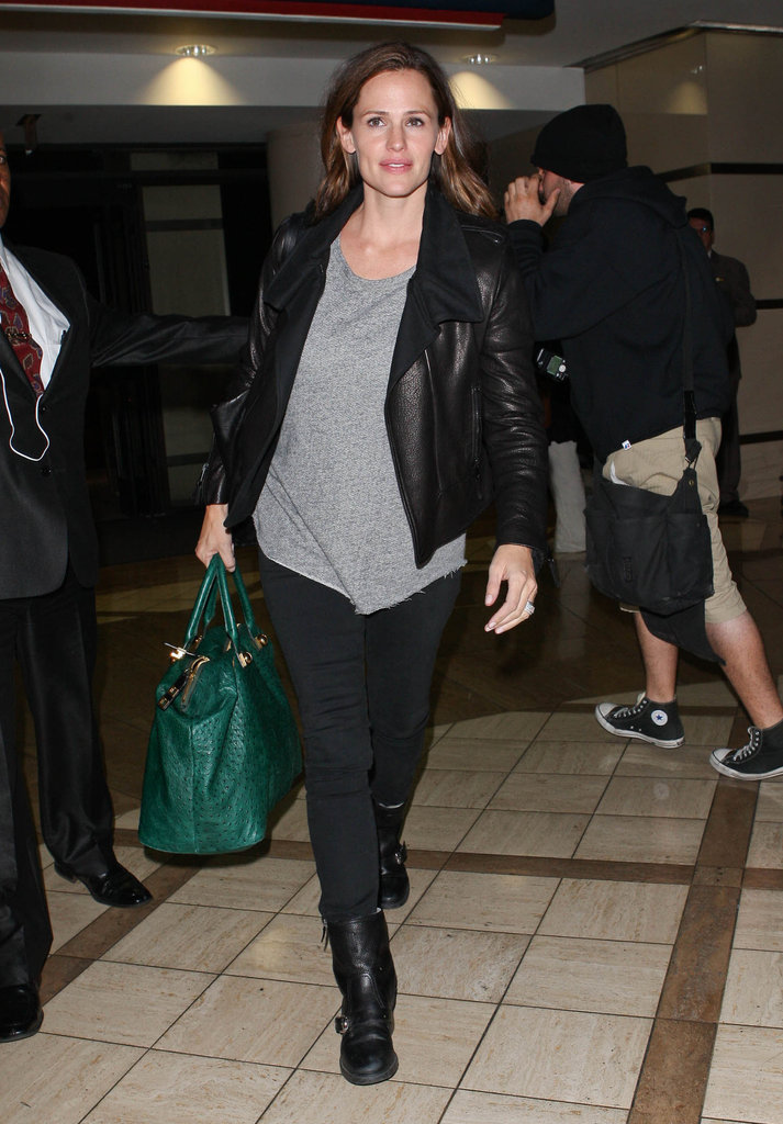 Jennifer Garner made her way through LAX.