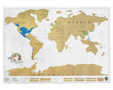 Scratchable World Map
