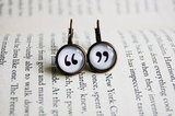 Quotation Mark Earrings