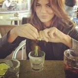 Chrissy Teigen got prepped to take a shot of tequila. Source: Instagram user chrissy_teigen