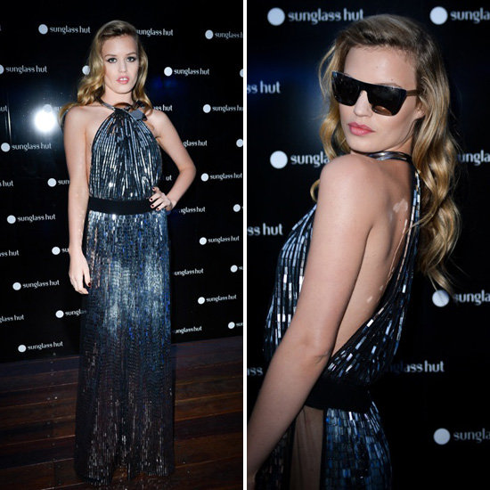 Georgia May Jagger Shines at Sunglass Hut's Floating Store Launch in Sydney