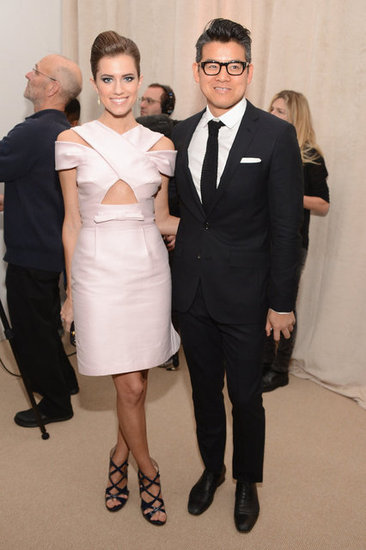 Allison Williams and Peter Som