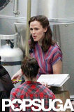 Jennifer Garner was in costume on The Dallas Buyer's Club set.