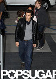 Olivier Martinez led the way into a movie theater.